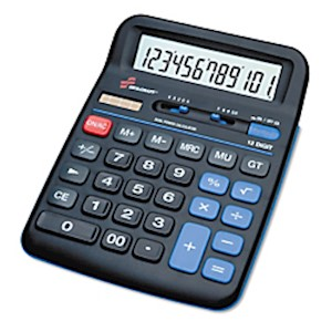 Desktop Calculator, 12-Digit (AbilityOne 7420-01-484-4560) - 1 Each MAIN