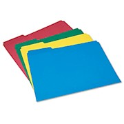 SKILCRAFT Color File Folders, 1/3 Cut, Letter Size, Assorted Colors (AbilityOne - Pack Of 1 THUMBNAIL