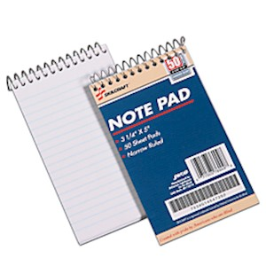 Mini Memo Pads, 3 1/4in x 5 1/2in, White, Pack Of 12 (AbilityOne 7530-01-454-7392) 12  - Dozen MAIN