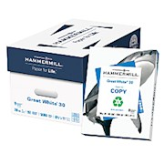 Hammermill Great White Copy Paper, Letter Size (8 1/2in x 11in), 20 Lb, 30% Recycled - Case Of 10 THUMBNAIL