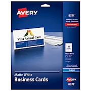 Avery Inkjet Microperforated Business Cards, 2in x 3 1/2in, Matte White, Pack Of THUMBNAIL