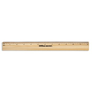 Office Depot Brand Wood Metal-Edge Ruler, 12in - 1 Each MAIN