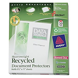 Document Protectors, Box Of 50 (AbilityOne 7510-01-236-0059) - Box Of 50 MAIN