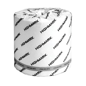 Highmark 2-Ply Bathroom Tissue, 100% Recycled, White, 550 Sheets Per Roll, Case Of MAIN