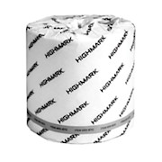 Highmark 2-Ply Bathroom Tissue, 100% Recycled, White, 550 Sheets Per Roll, Case Of THUMBNAIL
