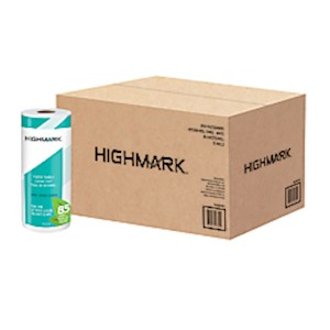 Highmark Brand 100% Recycled 2-Ply Paper Towels, 11in x 9in, 85 Sheets Per Roll - Case Of 15 MAIN