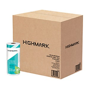 Highmark Brand 100% Recycled 2-Ply Paper Towels, 11in x 9in, 85 Sheets Per Roll - Case Of 30 MAIN