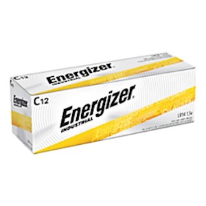 Energizer Industrial Alkaline C Batteries - Box Of 12 MAIN