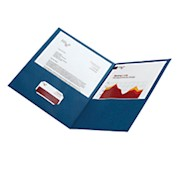 Office Depot Brand 2-Pocket Textured Paper Folders, Dark Blue, Pack Of 25 - Box Of 25 THUMBNAIL