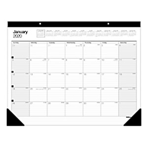 Office Depot Brand Monthly Desk Pad Calendar, 22in x 17in, White, January To December - 1 Each MAIN