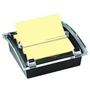 Post-it Notes Pop-Up Note Dispenser, 3in x 3in, Black/Clear - 1 Each THUMBNAIL