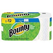 Bounty Select-A-Size 2-Ply Paper Towels, 11in x 5-15/16in, White, 83 Sheets Per Roll - Pack Of 8 THUMBNAIL