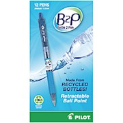 "Pilot B2P ""Bottle To Pen"" Retractable Ballpoint Pens, Medium Point, 1.0 mm, 86% Recycled 12  - Dozen THUMBNAIL"