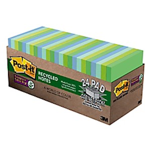 Post-it Notes Super Sticky Notes, 3in x 3in, Bora Bora - Pack Of 24 Pads MAIN