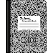TOPS Composition Book, 7 1/2in x 9 3/4in, Wide-Ruled, 100 Sheets, Black/White Marble - 1 Each THUMBNAIL