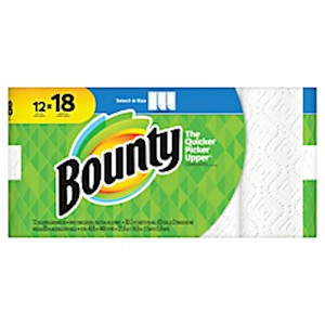 Bounty Select-A-Size 2-Ply Paper Towels, 11in x 5-15/16in, White - Pack Of 12 Giant MAIN