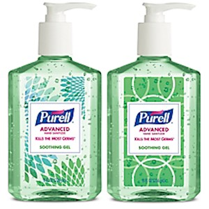 PURELL Advanced Hand Sanitizer Soothing Gel, Fresh Scent,  8 fl oz Pump Bottle, 4/CT - Pack Of 4 MAIN