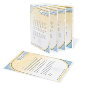 Office Depot Brand Poly Project View Folders, Letter Size, Clear - Pack Of 10 MAIN
