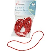 SKILCRAFT Sterling Grade Big Rubber Band, Red (AbilityOne) - Pack Of 36 THUMBNAIL