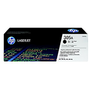 HP 305A (CE410A) Black Original LaserJet Toner Cartridge - 1 Each MAIN