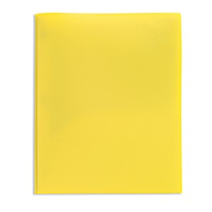 Office Depot Brand 2-Pocket Poly Folder with Prongs, Letter Size, Yellow - 1 Each MAIN