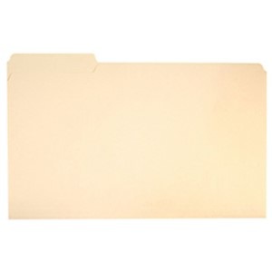 SKILCRAFT File Folders, 1/3 Cut, Legal Size, 30% Recycled, Manila  (AbilityOne) - Box Of 100 MAIN
