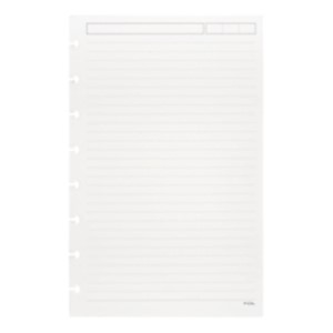 TUL Discbound Refill Pages, Junior Size, Narrow Ruled, 100 Pages (50 Sheets), White - Pack Of 1 MAIN