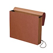 Smead Expanding Wallet, 3 1/2in Expansion, Letter Size, 30% Recycled, Redrope - 1 Each THUMBNAIL