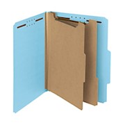 Smead Pressboard Classification Folders, 2 Dividers, Letter Size, 100% Recycled - Box Of 10 THUMBNAIL