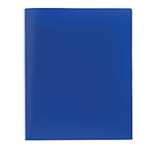 Office Depot Brand School-Grade 2-Pocket Poly Folder, Letter Size, Blue - 1 Each MAIN