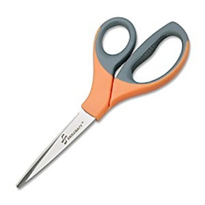 SKILCRAFT Stainless Steel Shears, 8 3/10in, Straight, Black/Orange - 1 Each MAIN