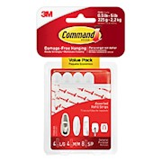3M Command Replacement Mounting Strips, Assorted Sizes, White - Pack Of 8 THUMBNAIL