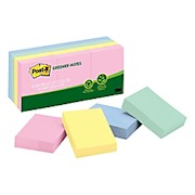 Post-it Notes Greener Notes, 1-1/2in x 2in, 100% Recycled, Helsinki - Pack Of 12 Pads THUMBNAIL
