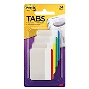 Post-it Durable Filing Tabs, 2in, Assorted Colors - Pack Of 24 THUMBNAIL
