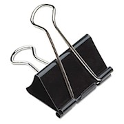 Binder Clips, 1in, Black/Silver, Box Of 12 (AbilityOne 7510-00-285-5995) - Box Of 12 THUMBNAIL