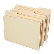 Office Depot File Folders, 1/3 Cut, Letter Size, 30% Recycled, Manila, Pack Of 100 - Box Of 100 THUMBNAIL