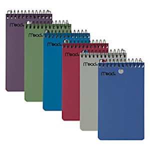 Mead Wirebound Top-Opening Memo Book, 3in x 5in, College Ruled, 100 Sheets - 1 Each MAIN