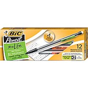 BIC Mechanical Pencils, Xtra Life, 0.7 mm, Black Barrel, Pack Of 12 12  - Dozen THUMBNAIL