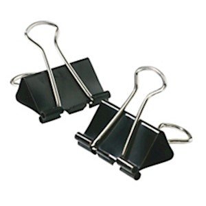 Office Depot Binder Clips, Small, 3/4in Wide, 3/8in Capacity, Black, 12 Clips Per - Pack Of 12 MAIN