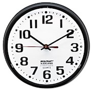 Shatterproof Crystal Dial Cover Clock, 8in Diameter, Black Frame (AbilityOne) - 1 Each THUMBNAIL