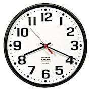 Shatterproof Crystal Dial Cover Clock, 12in Diameter, Black Frame (AbilityOne) - 1 Each THUMBNAIL