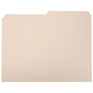 SKILCRAFT File Folders, 1/2 Cut, Letter Size, 30% Recycled, Manila (AbilityOne - Box Of 100 MAIN
