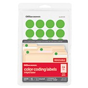 Office Depot Brand Removable Round Color-Coding Labels, OD98787, 3/4in Diameter - Pack Of 1008 THUMBNAIL