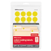 Office Depot Brand Removable Round Color-Coding Labels, OD98788, 3/4in Diameter - Pack Of 1008 THUMBNAIL