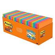 Post-it Notes Super Sticky Notes, 3in x 3in, Rio de Janeiro Collection - Pack Of 24 THUMBNAIL
