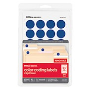 Office Depot Brand Removable Round Color-Coding Labels, OD98790, 3/4in Diameter - Pack Of 1008 THUMBNAIL