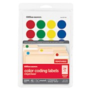 Office Depot Brand Removable Round Color-Coding Labels, OD98785, 3/4in Diameter - Pack Of 1008 THUMBNAIL