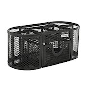 Rolodex Mesh Oval Pencil Cup And Organizer, 3 7/8inH x 4 1/2inW x 9 5/16inD, Black - 1 Each THUMBNAIL