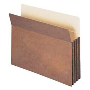 Smead Expanding File Pockets, 3 1/2in Expansion, Letter Size, 100% Recycled, Redrope - Box Of 25 MAIN