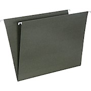 SKILCRAFT Hanging File Folders, No Tabs, 2in Expansion, Letter Size, Green, Box Of THUMBNAIL